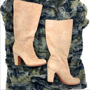 Frye suede mirabelle slouch boots 7.5